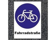 BORNIT Verkehrszeichen VZ 244.1 Fahrradstraße