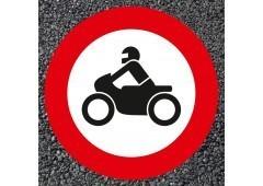 BORNIT Verkehrszeichen VZ 255 Verbot für Krafträder
