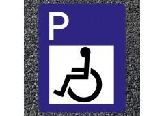 BORNIT Verkehrszeichen VZ 314+1044-10 Behindertenparkplatz