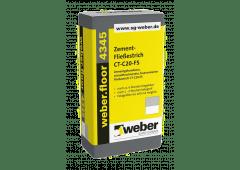 weber.floor 4345 | Zement-Fließestrich schnelltrocknend -  40kg