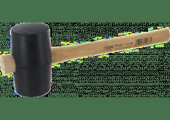 Gummihammer schwarz, mit Holzstiel