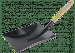 Kehrschaufel, Stahlblech, schwarz - 220x230mm
