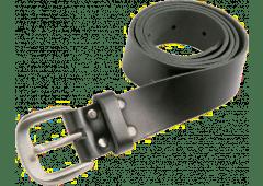 Ledergürtel schwarz, 38mm breit, für Bundweiten 75-120cm