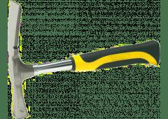Maurerhammer 'Berliner Form' - 600g, mit Stahlrohrstiel