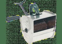 Putzwerfer, verzinkt, mit Stahlfederwalze