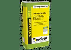 weber.san 953, 25kg - Sanierputz grau