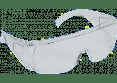 Schutzbrille, volltransparent, EN166 - Überbrille