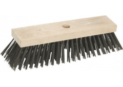 Stahldrahtbesen, 30x7cm, ohne Stiel