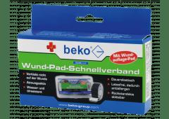 beko CareLine Wund-Pad-Schnellverband 25mm, 2Rollen a 4,5m, beige/blau