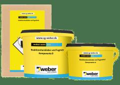 weber.xerm 848, 4kg - Reaktionsharzkleber und Fugenmörtel