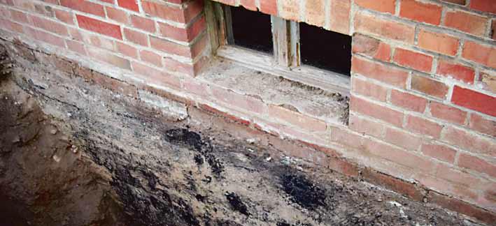 Untergrundprüfung- und vorbereitung im Sanierungsfall