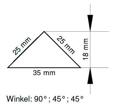 Bornit Dreiecksband - Abmessungen
