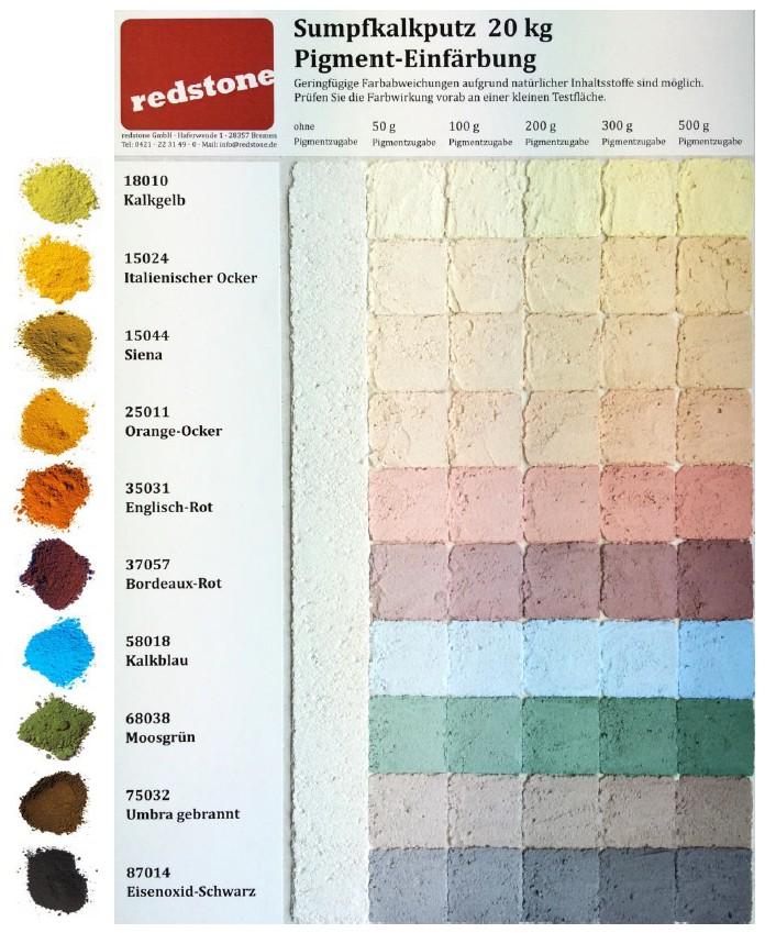 Luno Farbpigmente - Farbbeispiele